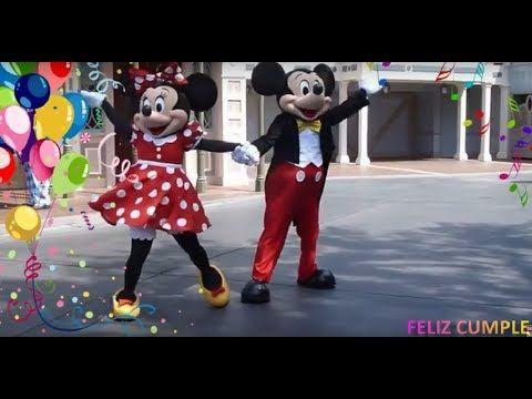 ❤️ Canción de FELIZ CUMPLEAÑOS Minnie y Mickey  ❤️ Tradicional Niños Infantil español show baile - YouTube