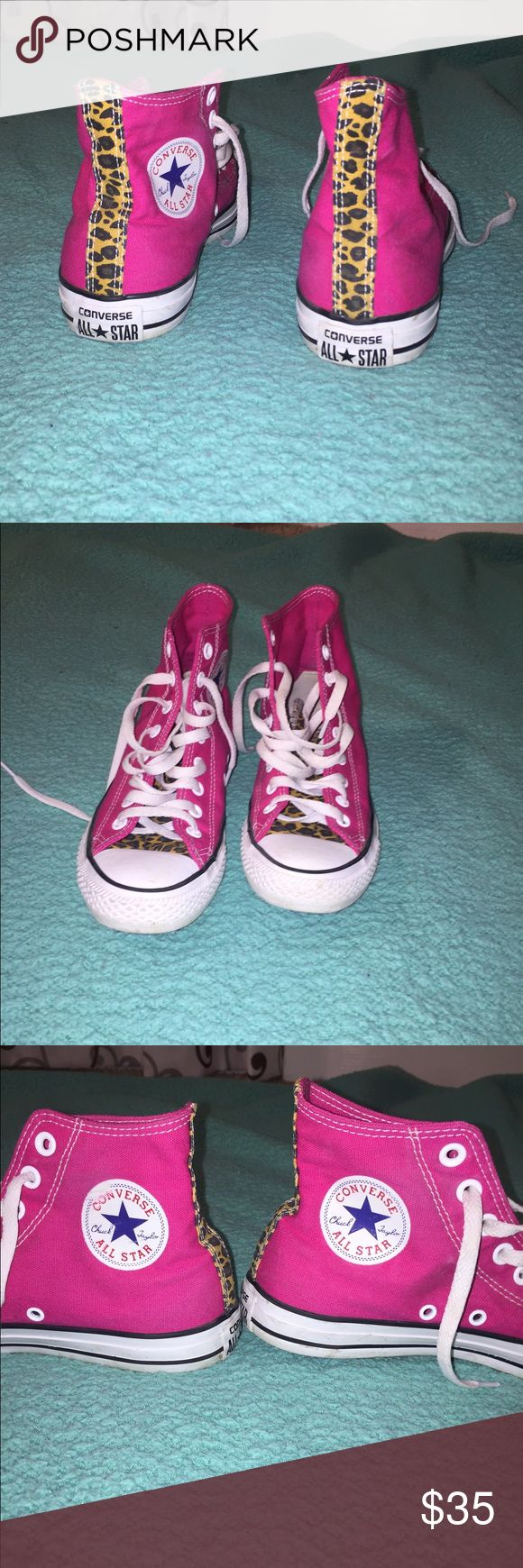 Custom Converse Chuck Taylors Brand new! Only worn once! Custom made! Converse Shoes Sneakers