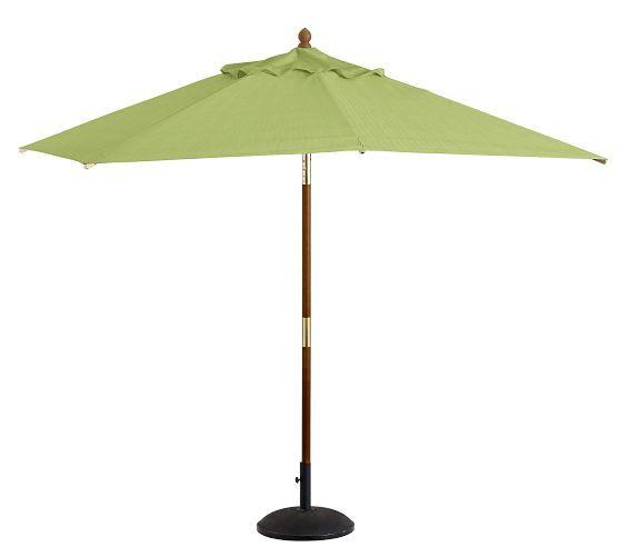 Premium Sunbrella® Rectangular Umbrella - Solid | Pottery Barn