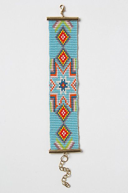 Starburst Bracelet #anthropologie  I really like this. Nice beadwork probably made in a slum factory somewhere...