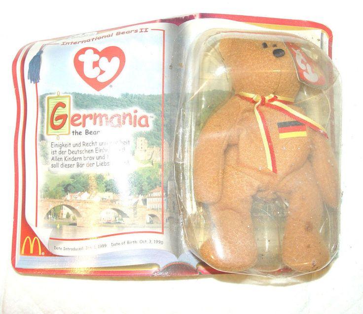 TY BEANIE BABIES-(GERMANIA-THE BEAR)-2000 McDonalds-TEENIE ORIGINAL BEANIE #Ty
