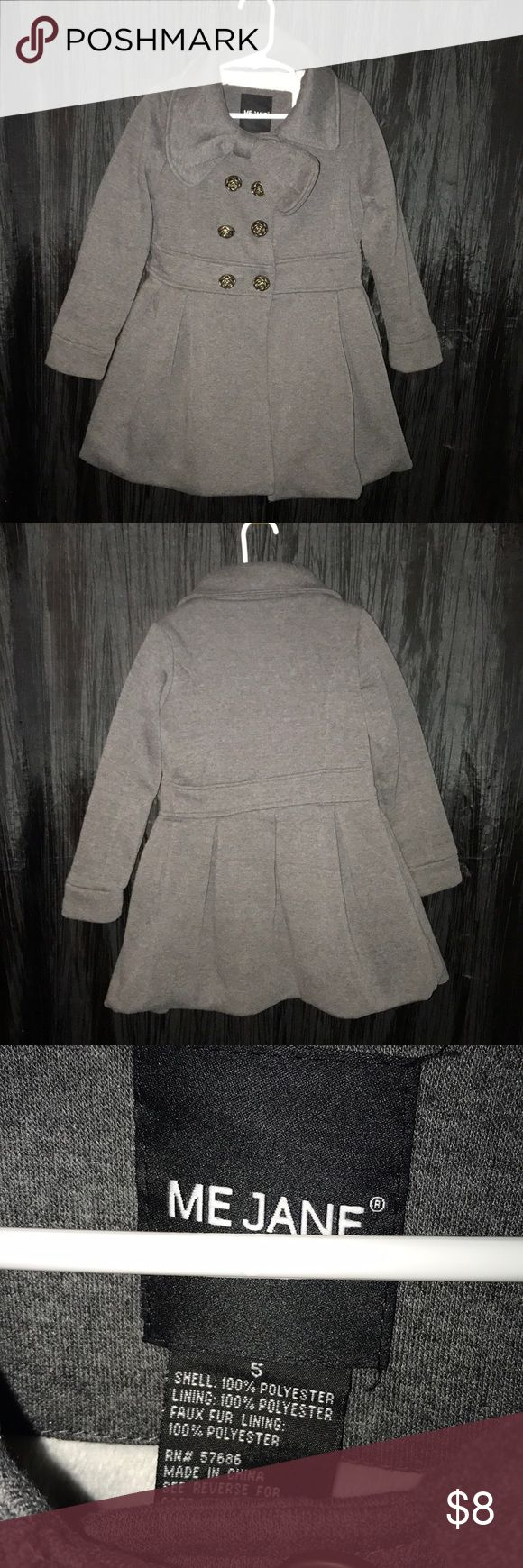 MeJane Girls Peacoat MeJane Girls Peacoat with Bow and Pleats... shows signs of wear Me Jane Jackets & Coats Pea Coats