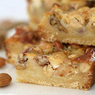 Caramel pecan slice  BEST SLICE EVER caramel thermomixaus thermomix