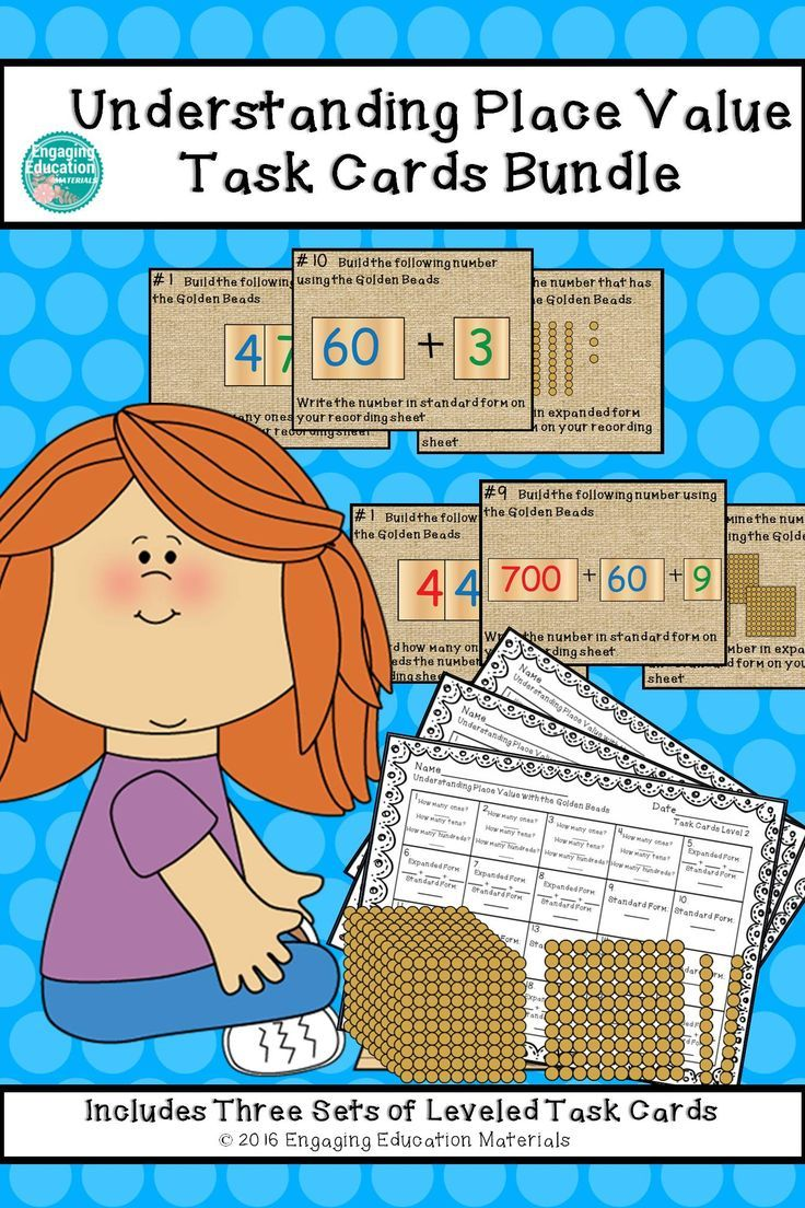 1187 best montessori on tpt images on pinterest montessori reinforce the teaching of place value with these differentiated task cards these task cards focus falaconquin