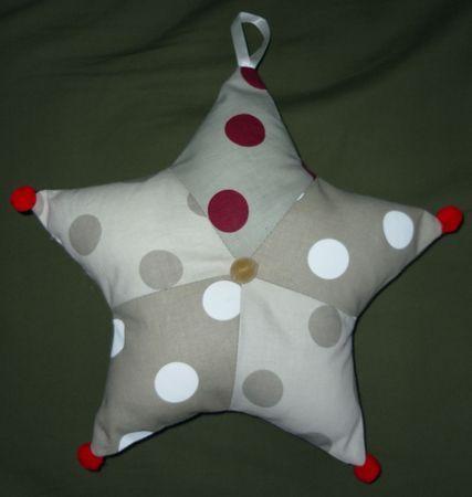 Tutoriel  étoile de noël en patchwork