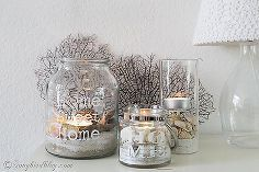 easy beach lanterns diy, crafts, home decor