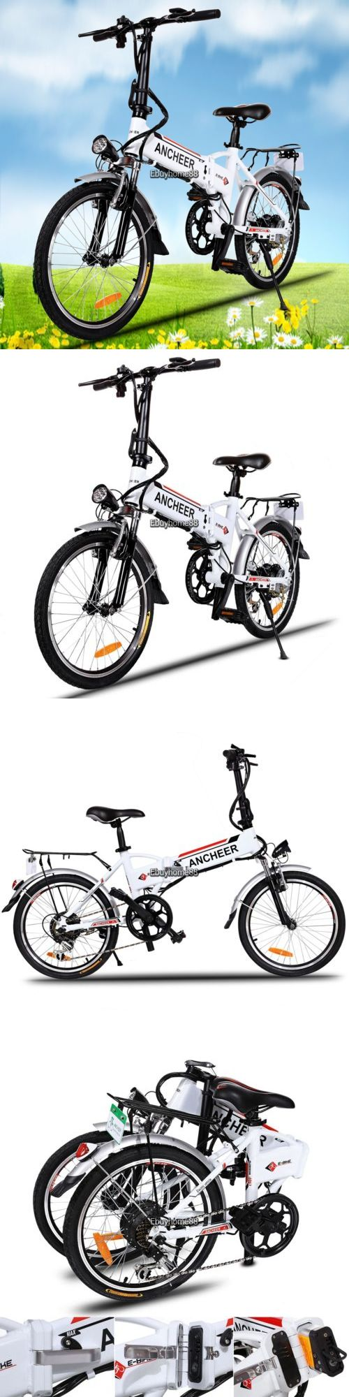 Electric Bicycles 74469: White Foldable Electric Mountain Bike Bicycle Ebike Folding Lithium 250W 36V BUY IT NOW ONLY: $532.68