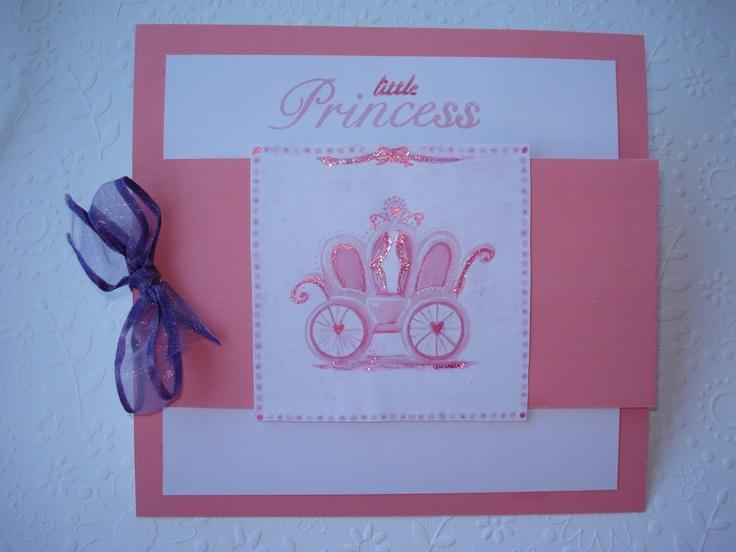 Invitation-card for baby princess