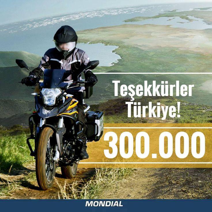 #Mondial ailesi sizlerle büyümeye devam ediyor.  Teşekkürler Türkiye!