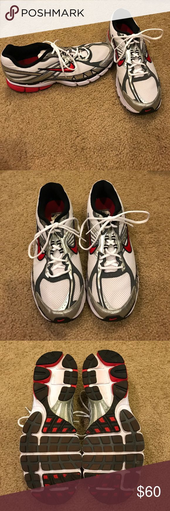 Men's Nike+ Zoom Structure 12 Triax sneakers Men's Nike plus compatible Zoom Structure 12 Triax sneakers in like new condition. Worn maybe 3 times. Size 12 men's. Black, Red & Gray Nike Shoes Sneakers