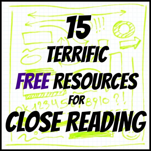 Close reading resources                                                                                                                                                                                 More