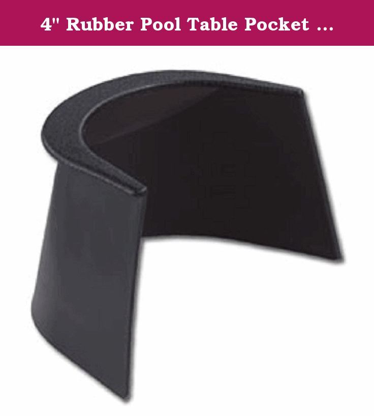 "4"" Rubber Pool Table Pocket Liner - Center- Unpunched. Durable rubber. Actual O.E.M. liner. For use on Dynamo, Great American, and Valley pool tables."
