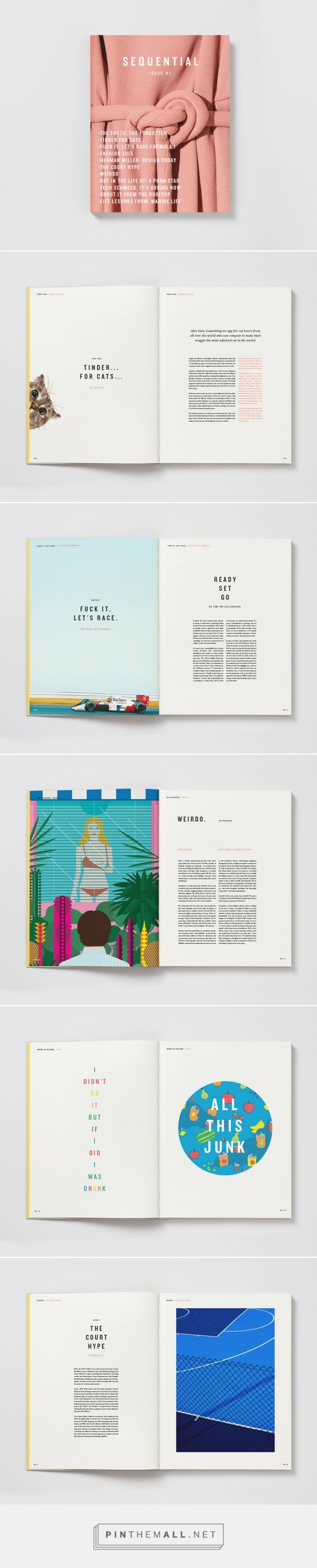 sequential magazine concept design by brandon nickerson the design blog editorial design layoutsdesign portfolio