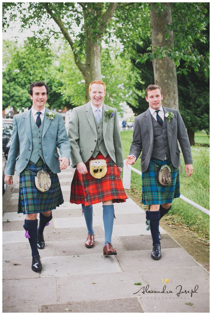 Groom, ushers, kilts, wedding photography, best man, by Alexandra Joseph