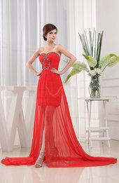 Candy apple red prom dresses