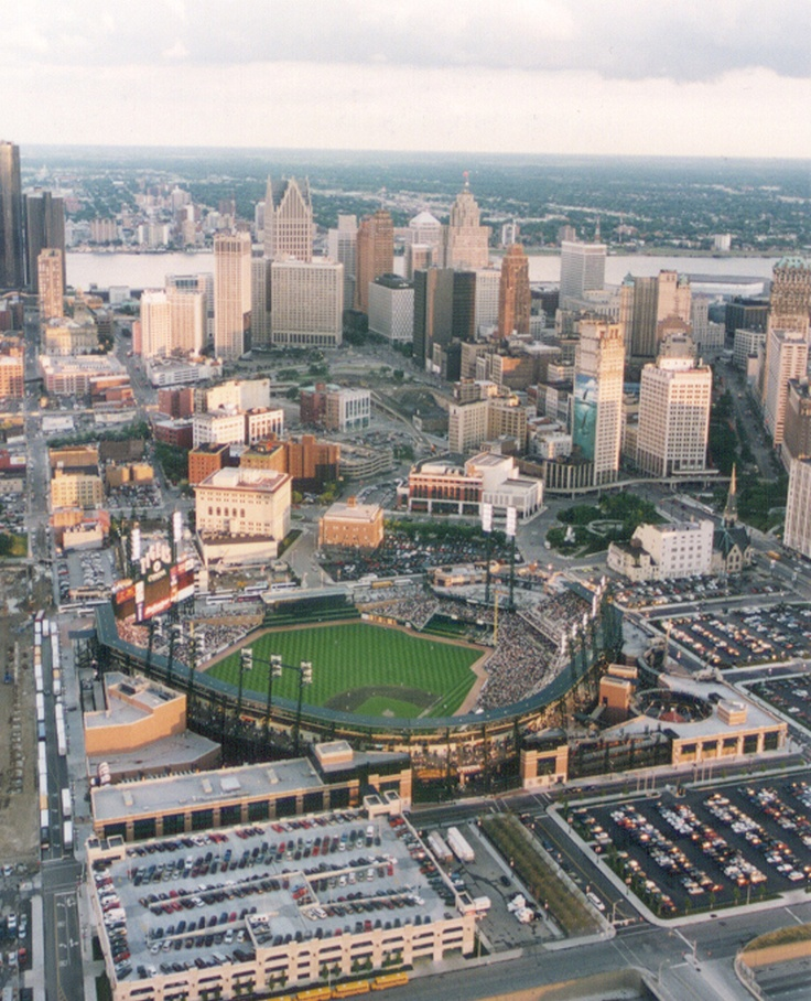 Comerica Park from above