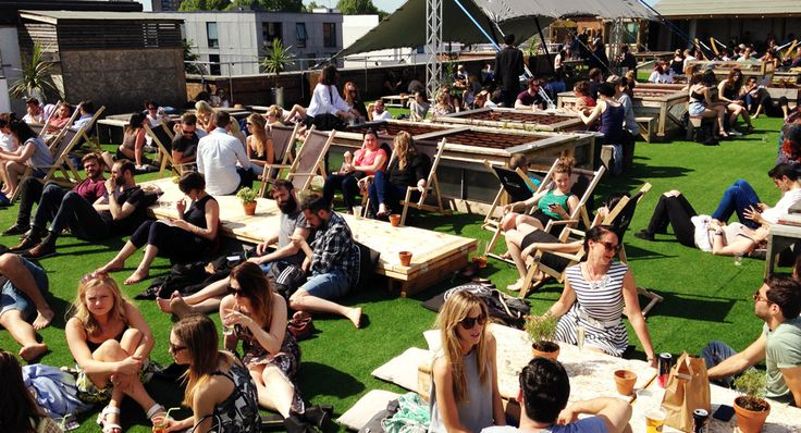 Rooftop bar/events space near London Fields.