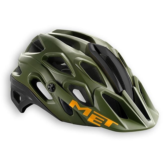 06 Met Casco MTB Lupo HES Size M 54/58, Camo Green/Black/Orange | eBay
