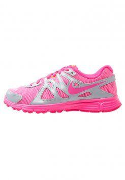 Nike Performance - REVOLUTION 2 - Zapatillas running con amortiguación - metallic platinum/pink pow/white/bright