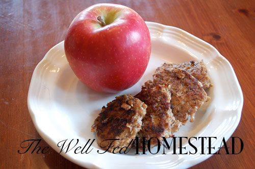 chicken apple sausage patties. Make with green apples instead of red ...