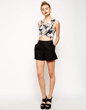 ASOS Linen High Waist Shorts