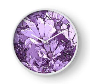 Clock -  #Purplecosmos #artsycosmos #purpleflowers #sandrafoster