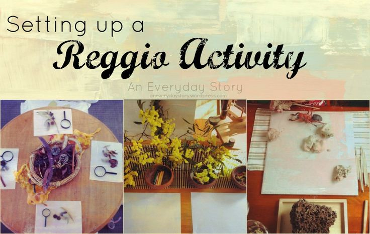 Setting up a Reggio-inspired Activity...goal to do this weekly in the art center next year