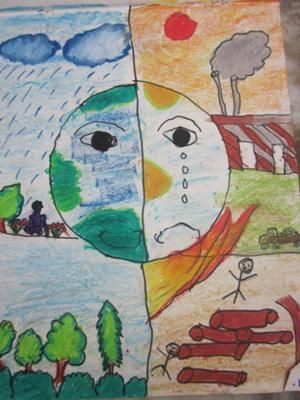 Drawings on global warming by children