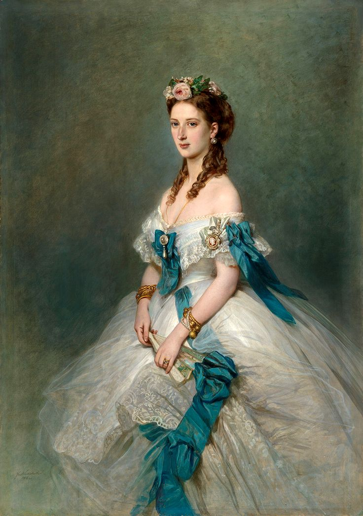 Queen Alexandra when Princess of Wales, by Franz Winterhalter, 1864. Gods and Foolish Grandeur