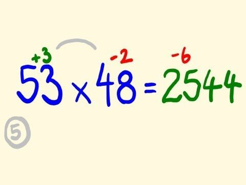 Fast Mental Multiplication Trick - Multiply in your head numbers near 50