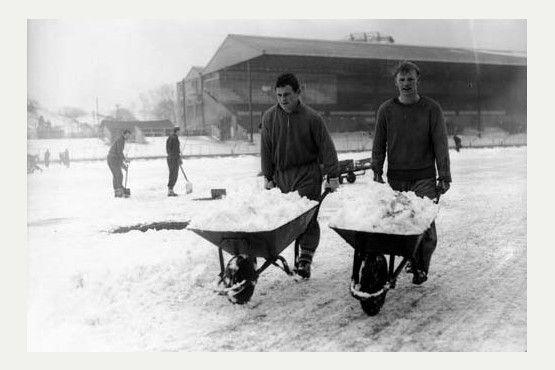 Bristol Rovers' Eastville stadium snowbound in 1963