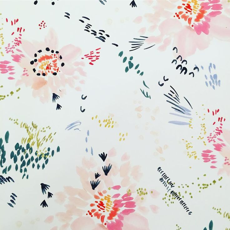 Elizabeth Clowes - Playful floral pattern