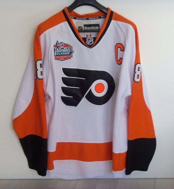 aa136cf83cd4e Philadelphia Flyers Mike Richards Jersey NHL Winter Classic Worn ...