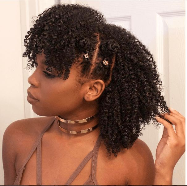 Bantu Knots Pinterest: Braided Bantu Knot Mohawk Style On Natural Hair