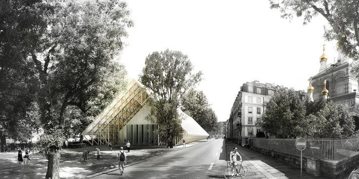 Pavillon de la Danse ; Roof Piece // by  BUREAU A