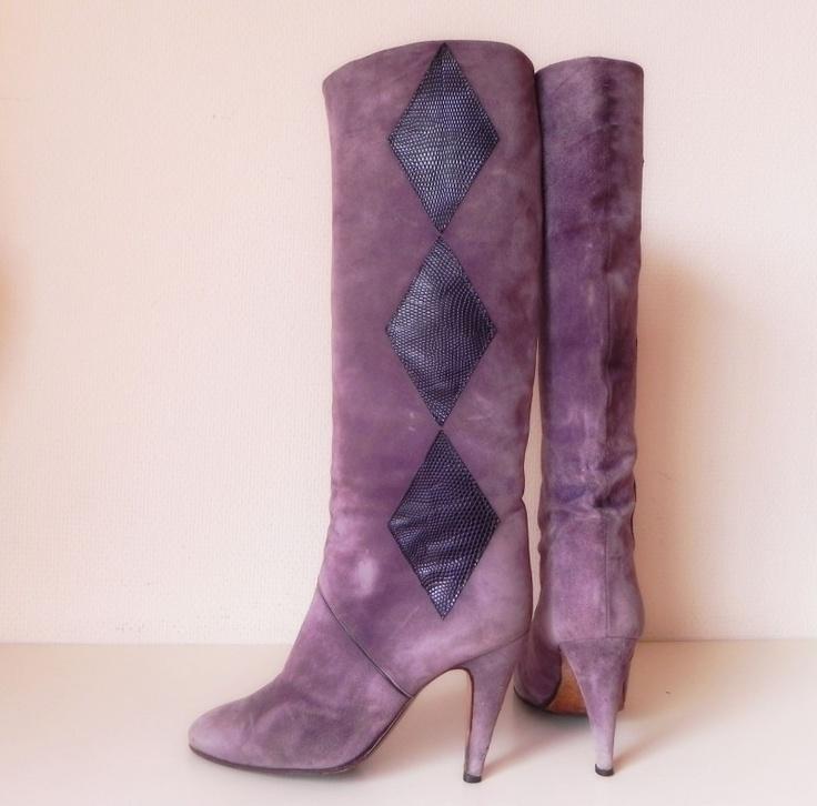 Ferdin Designers kalfsleren laarzen (nr. 1524) #vintage #boots