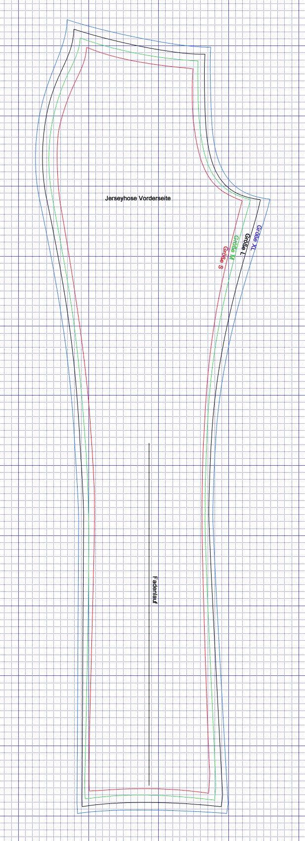 Free pants sewing pattern Sml-XL
