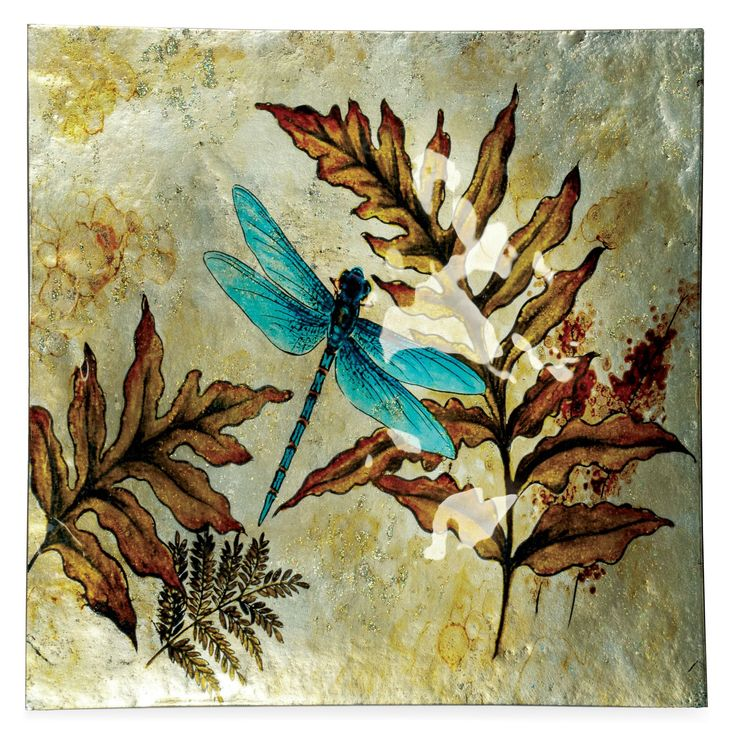Dragonfly Spirit Square Plate (Set of 3)