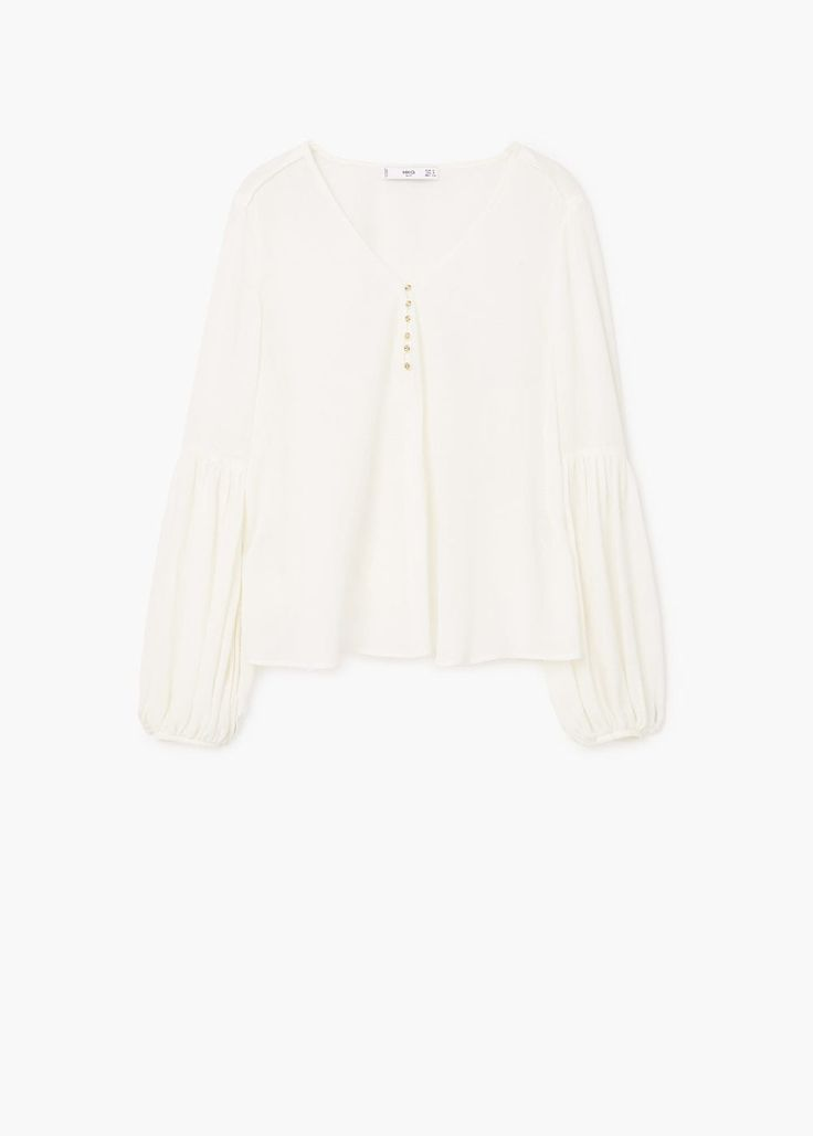 Puffed sleeves blouse | MANGO  Puffed sleeves blouse  REF. 81013630 - TULIPAN  din.5,990din.3,990 (-33%)