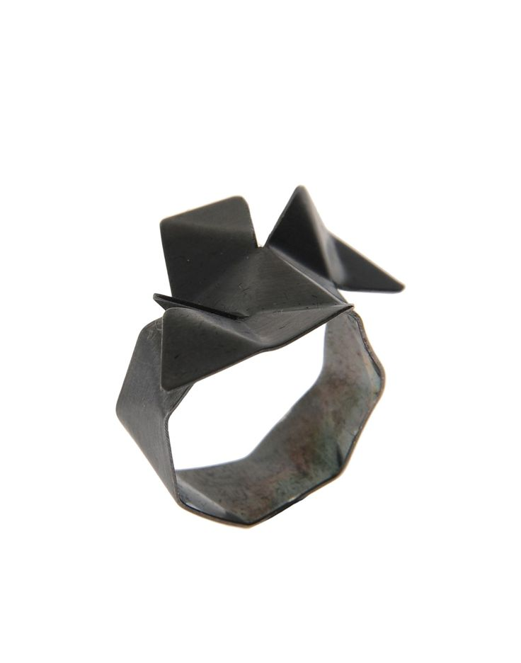 Anillo First People First Origami Ring Silver – Mujer – Anillos First People Fir…
