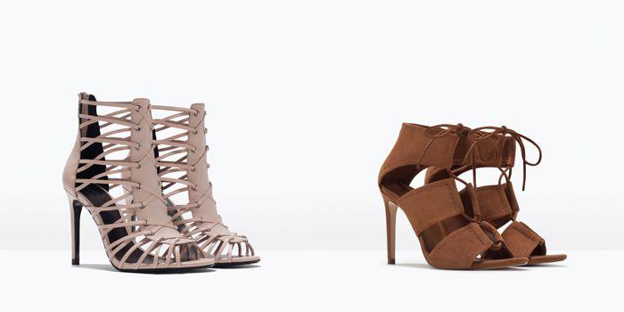 #ZARA Nueva Colección de Zapatos Primavera Verano 2015 II #Sandalias abotinadas