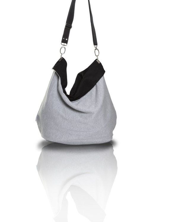 manashop.pl Large Totebag/ grey canvas tote/ xxl bag / large   by MANABAGS handmade bags, custom-made bags