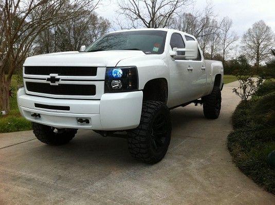 White Chevy Trucks Jacked Up Www Pixshark Com Images