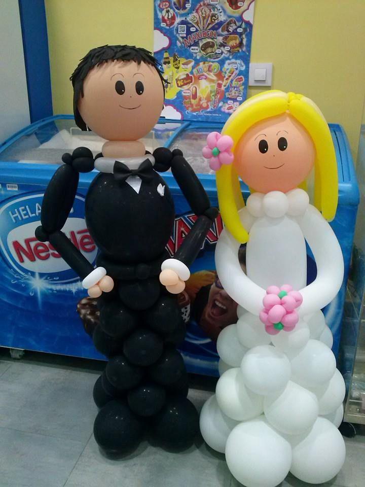 vuelven las figuras de globos de dulce diseo almera en esta ocasin una pareja de