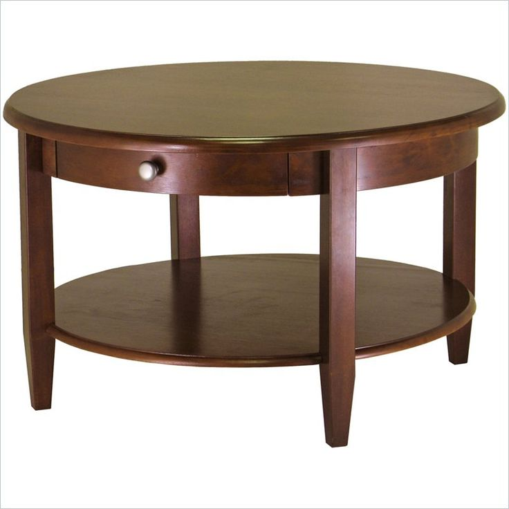 Winsome Concord Round Wood Coffee Table in Antique Walnut - 94231