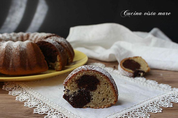 Ciambella+bicolore+pistacchio+e+cacao