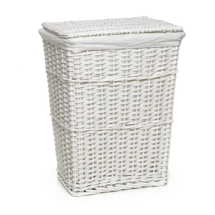 Wilko Split Wood  Laundry Hamper White