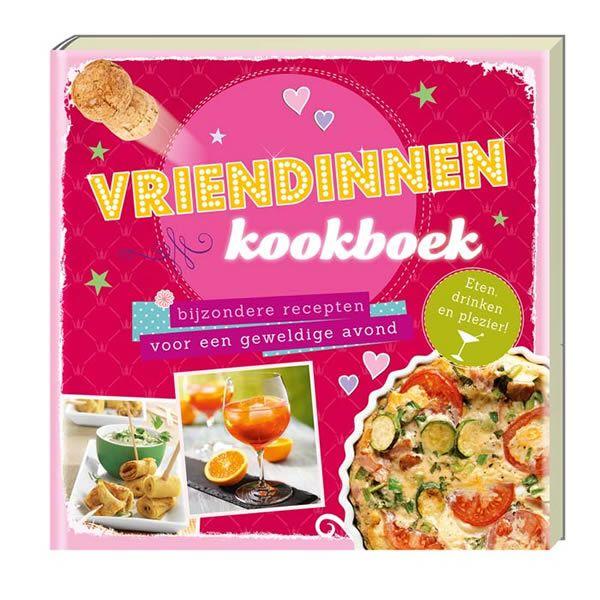 Vriendinnenkookboek. Heerlijke hapjes en bijzondere drankjes voor een gezellige avond met je vriendinnen. Een kookboek vol recepten die meehelpen om de sfeer te verbeteren. Of het nu zoete lekkernijen zijn of tussendoortjes die je op knabbelt of voor gerechten voor een maaltijd, in dit boek vindt je het allemaal. Gezellige muziek of spannende film aan en geniet er van!