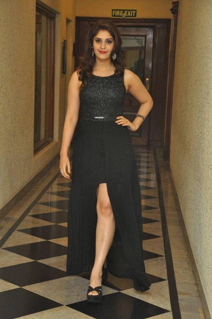 Actress Surabhi Stills At Audio Launch In Black Dress