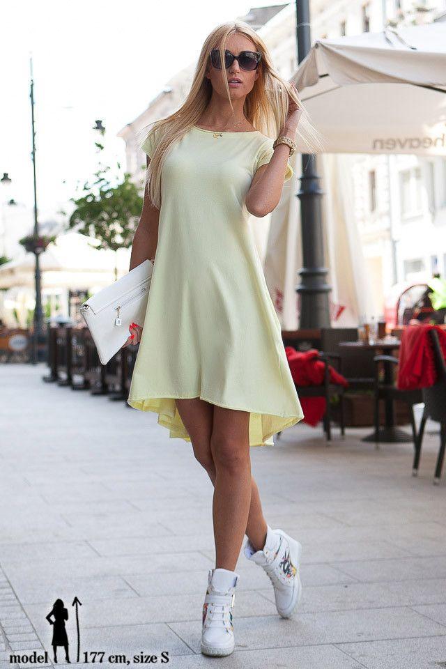 Sukienka cytryna | NOWOŚCI Odzież damska \ sukienki WYPRZEDAŻ